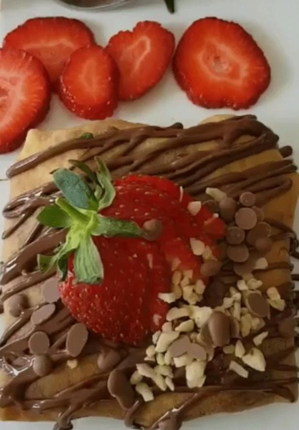 Çikolatalı Krep Bohça