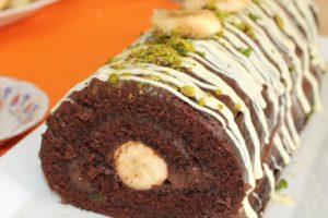 Çikolatalı Muzlu Rulo Pasta