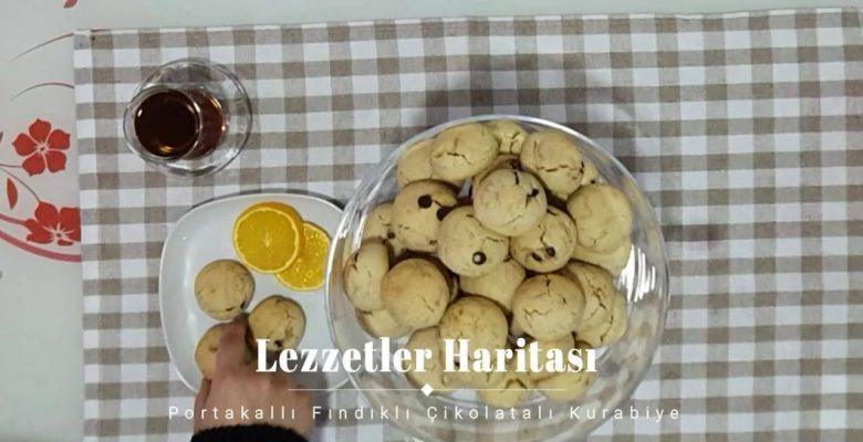 Fındıklı Çikolatalı Portakallı Kurabiye Tarifi
